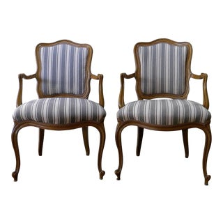 Vintage French Style Fauteuils - A Pair