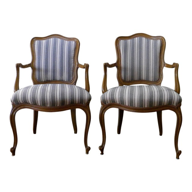 Vintage French Style Fauteuils - A Pair - Image 1 of 6