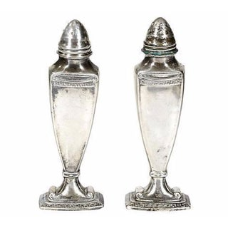 1920's Silver-Plate Gothic Shakers - A Pair