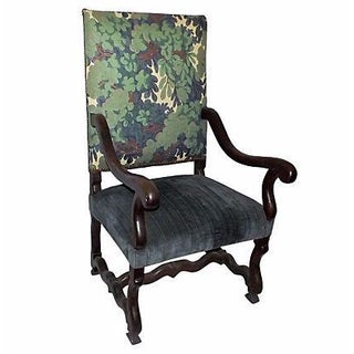 17th Century Antique Italian Walnut Armchair