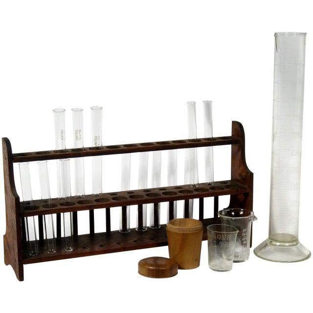 Vintage Scientific Test Tubes & Holder - Image 1 of 5