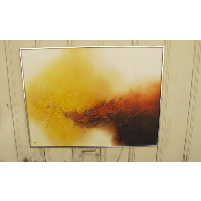 Signed Ferris Abstract Oil Painting - Image 2 of 5