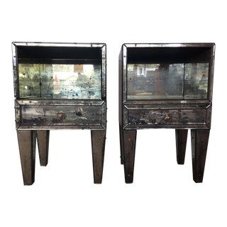 Vintage Venetian Mirrored Cabinets - A Pair