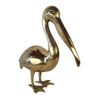 Large Brass Pelican