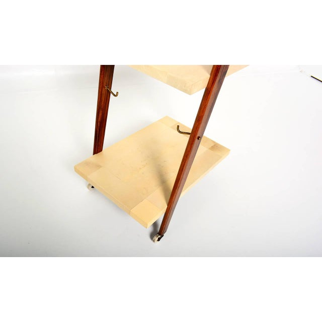 Mexican Modernist Goat Skin Service Cart - Image 5 of 10