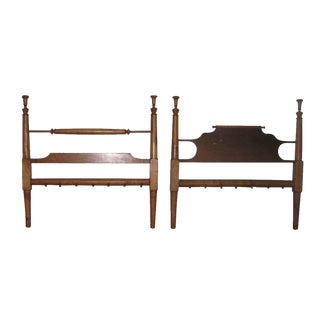 Colonial Style Wooden Full Size Bed Frame