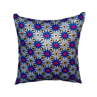 Sample Sale|Baby Blue Wax Print Pillow Set of 2