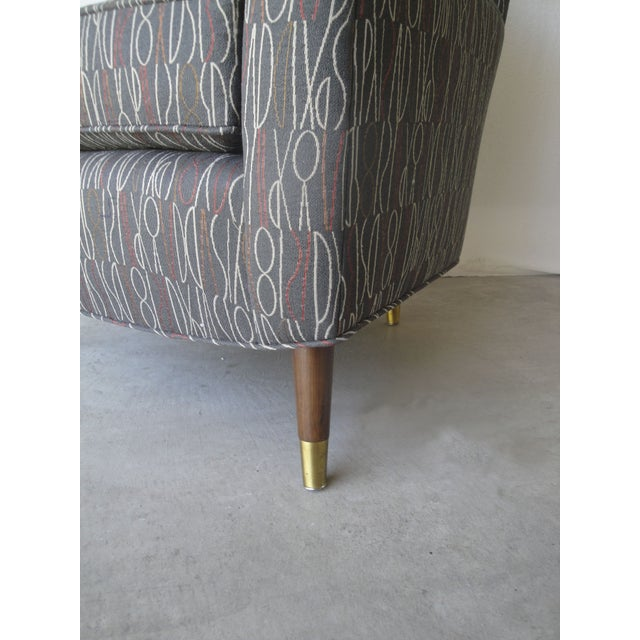 Brown Retro Print Modern Lounge Chair - Image 4 of 6