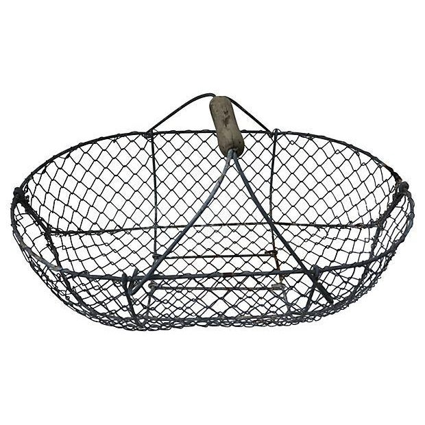 1930s French Oyster Gathering Basket - Image 2 of 2