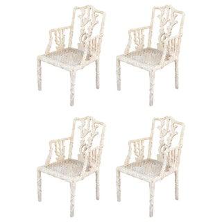 Decorative Branch Faux-Bois Chairs - Set of 4