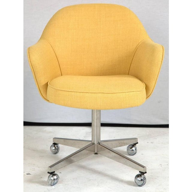 Knoll Desk Chair in Yellow Microfiber - Image 5 of 9