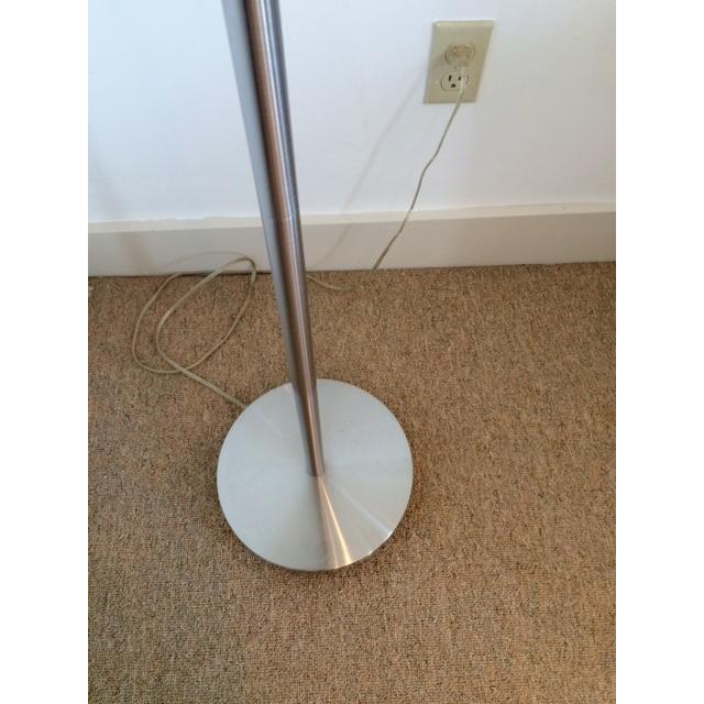 mid century stainless steel floor lamp chairish. Black Bedroom Furniture Sets. Home Design Ideas