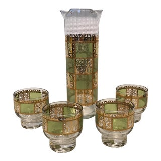 Culver Cocktail Mixer & Glasses - Set of 5