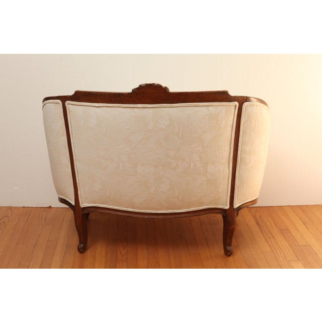 19th Century French Settee in Carved Hardwood - Image 6 of 8