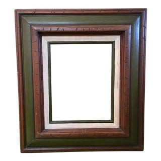 Vintage Linen Matted Frame