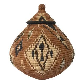 Hand-Woven Zulu Basket