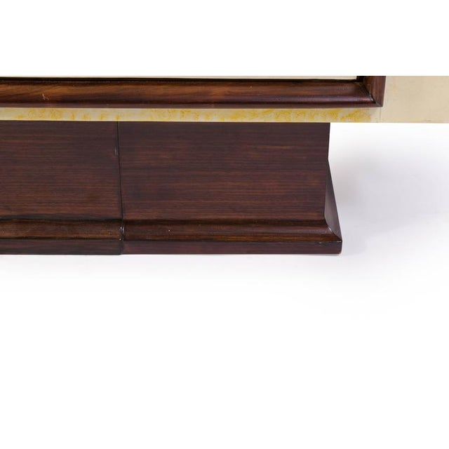Art-Deco Vellum & Mahogany Sideboard Attributed to Paul Dupré-Lafon - Image 6 of 7