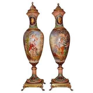 19th Century French Grand Palace Urns - Pair