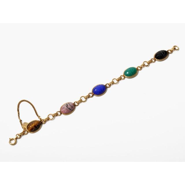 Image of Vintage Stone Scarab Bracelet