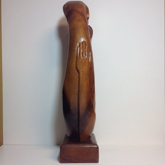 Mid-Century Carved Sculpture - Image 4 of 9