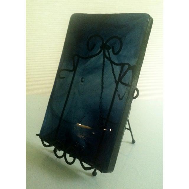 Blenko Blue Art Glass Panel - Image 3 of 7