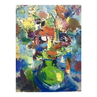 1970 Still Life With Flowers Painting