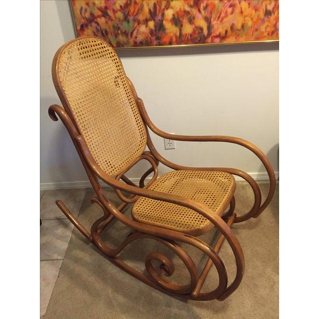 vintage mid century thonet style bentwood rocking chair chairish