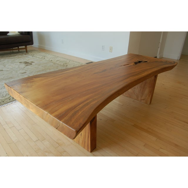 HD Buttercup Teak Live Edge Coffee Table | Chairish