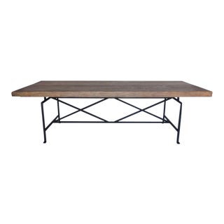 Custom Reclaimed Wood Table with Iron Base