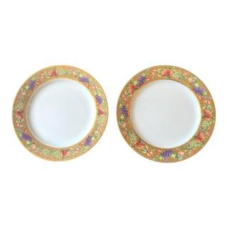Limoges Ancienne Manufacture Royale 'Botticelli ' Plates - a Pair