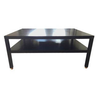 "Modern Black ""Morris"" Coffee Table"