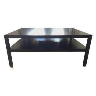 "Modern Black ""Morris"" Coffee Table"