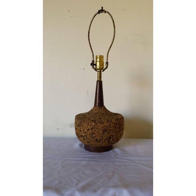 Image of Mid-Century Danish Modern Cork Lamp