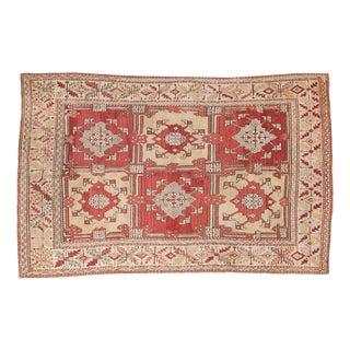 """Vintage Turkish Oushak Carpet - 5'5"""" X 8'6"""""""