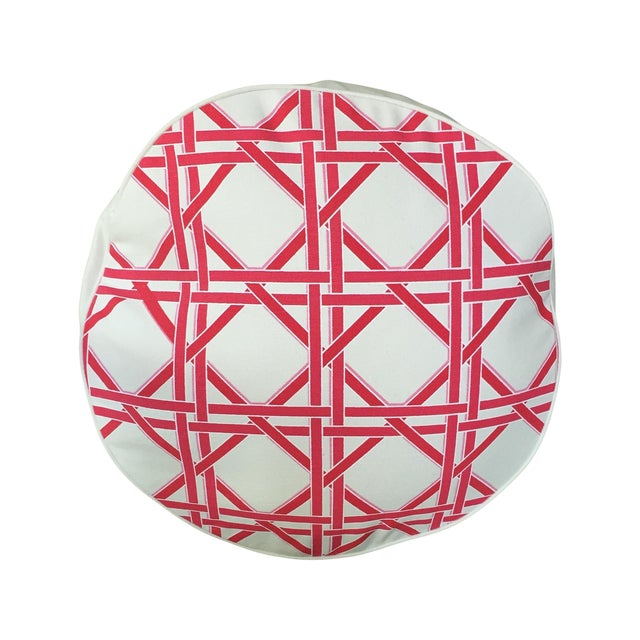 Eco Accents Round Pink Canvas Pillow - Image 1 of 5