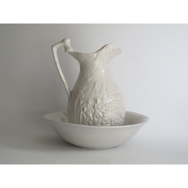 American White Ceramic Wash Basin & Pitcher - Image 2 of 8