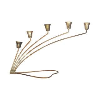 Brass Lily Centerpiece Candleholder
