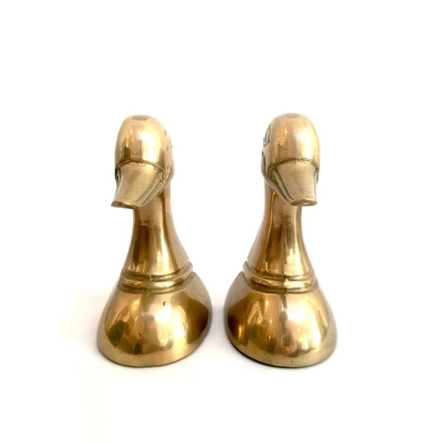 Brass Duck Bookends - Pair - Image 3 of 7
