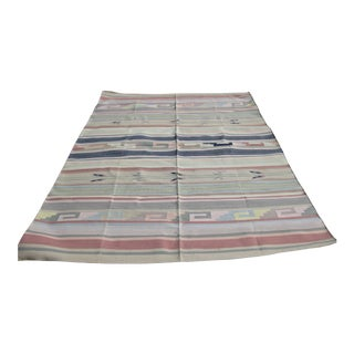 Hand Woven Indian Dhurrie Rug - 6′1″ × 8′11″