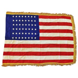 Large Vintage American Flag with 48 Stars