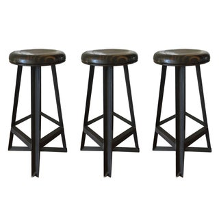 Cleveland Art Industrial Loft Style Bar Stools - Set of 3