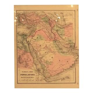1865 Persia Arabia & Egypt Map