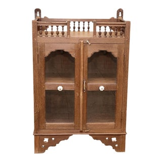 Antique British Colonial Spindle Cabinet