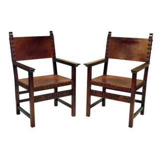 Spanish Colonial Armchairs - A Pair