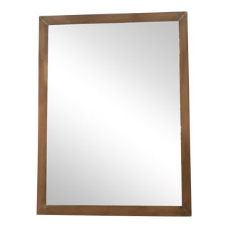 Rectangular Solid Brass Mirror