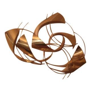 Modern Brass Wall Sculpture