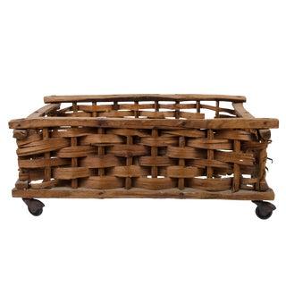 Antique Storage Basket on Casters