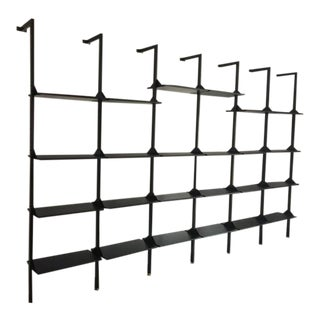 Architectural Italian Wall-Mounted Shelving System