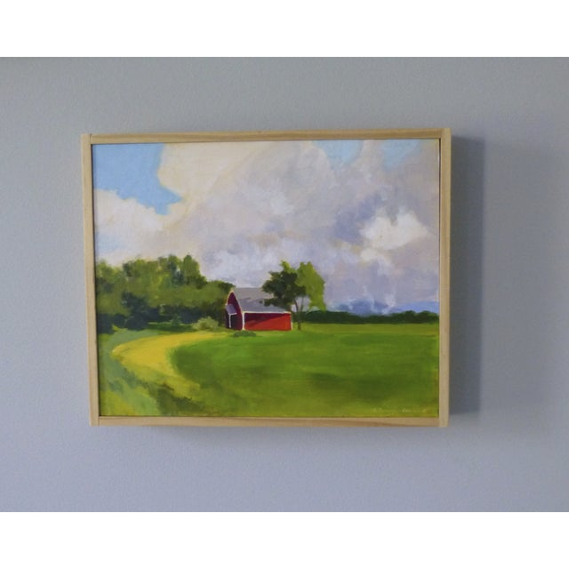 Original Painting - Red House in Vermont - Image 2 of 5
