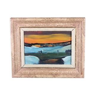 1949 Sunset Impressionist Oil Painting